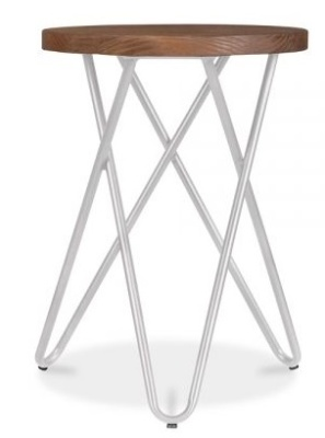 Hairpin Stool With A Grey Frame 1