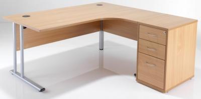 Flite Right Hand Corner Desk Bundle In Oak