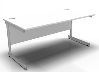 Stellar Rectangular Desk In White