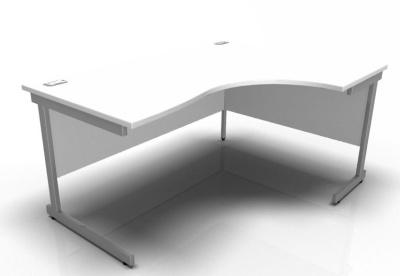 Stella Right Hand Corner Desk In White