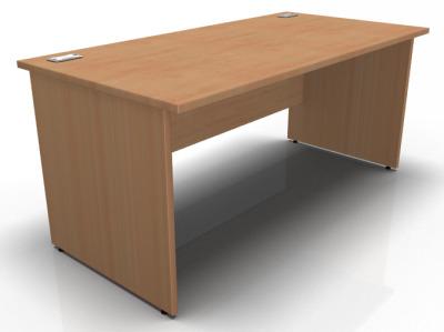 Stellar Panel Sided Desk In Beech