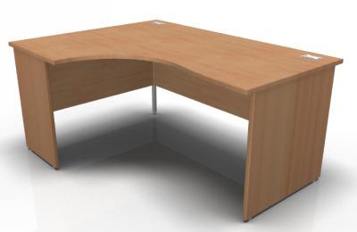 Solar Left Hand Panel Corner Desk In Beech