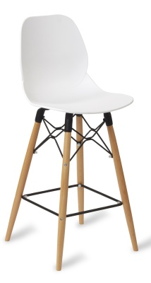 Mackie High Stool With A White Seat