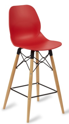 Mackie High Stool With A Red Seat