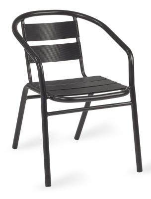 Pandora Outdoor Aluminium Armchair In Black