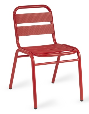 Pandora Red Aluminium Side Chair