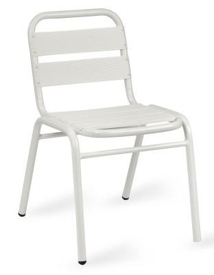 Pandora White Aluminium Side Chair