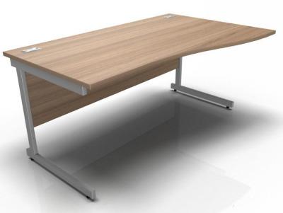 Stellar Right Hand Wave Desk Cantilever Frame