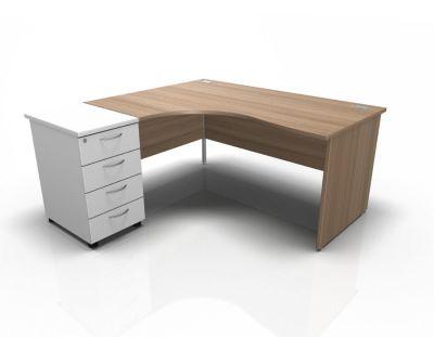 Stellar Left Hand Corner Desk Panel Sides Frame Desk High Pedestal