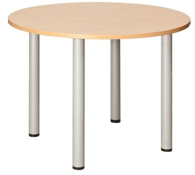 Abacus Next Day Circular Meeting Table With A Beech Top
