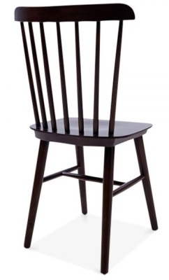 Buckingham Chair In Brown Rear Angle