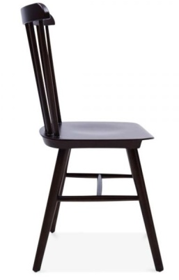 Buckingham Chair In Brown Side View