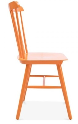Buckingham Chair In Orange Side View