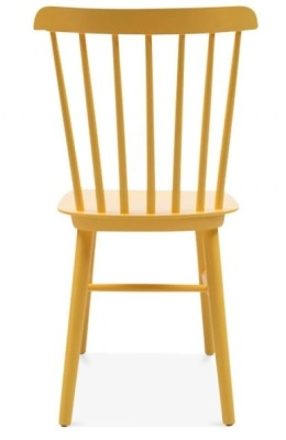 Buckingham Chair In Yellow Rear View