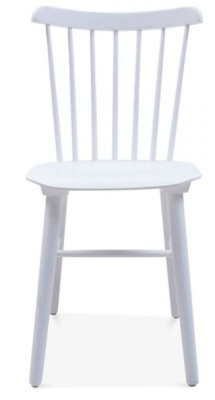 Buckingham Chair In White Front Shot