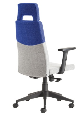 Theo Execuitive Fabric Chair Blue Upper