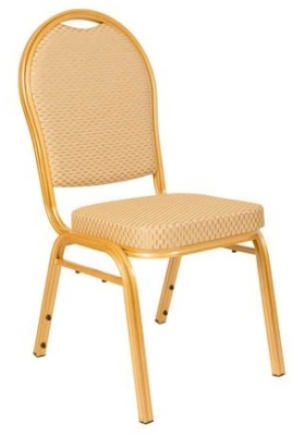 Brisbane Banqueting Chair Gold Fabric And Gold Frame