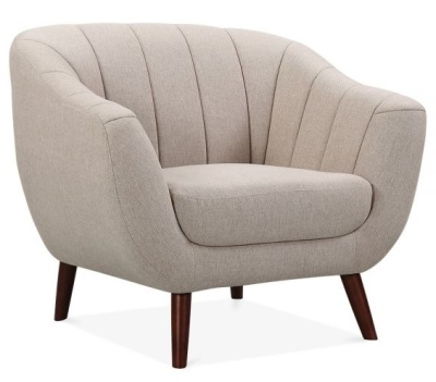 Blake Single Seater Sofa In Cream Angle View