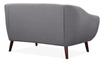 Blake Twop Seater Sofa Rear View Smoke Grey