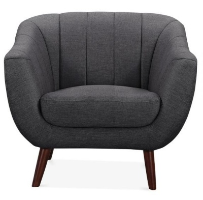 Blake Sofa In Dark Grey Single Seater Front View