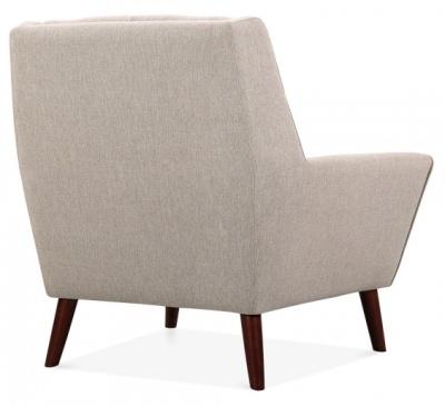 Cortina Single Seater Arm Chair Rear Angle Cream Upholstery