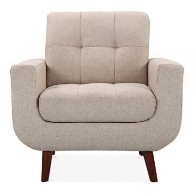 Maxim Designer Armchair Cream Upholstery Front Shot