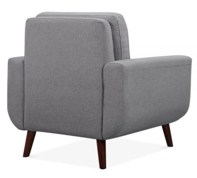 Maxim Armchair Rear Angle Smoke Grey Rear Angle