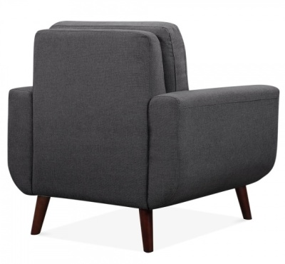 Maxim Armchair Dark Grey Fabric Rear Angle