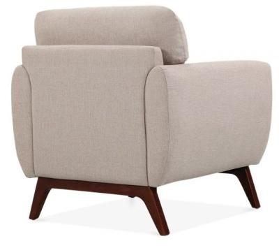 Toleta Armchair Rear Angle Cream Upholstery