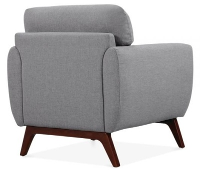 Toleta Armchair Smoke Grey Fabric Rear Angle