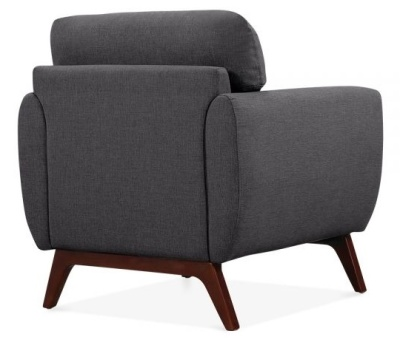 Toleta Armchair Dark Grey Fabric Rear Angle