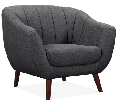 Blake Single Seater Sofa In Dark Grey Angle View