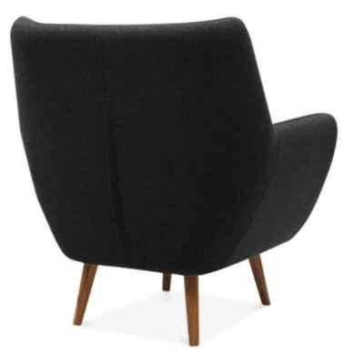 Poet Armchair In Black Rear Angle
