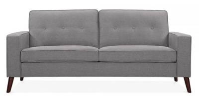Pimlico Three Seater Sofa In Smokey Grey Front Shot