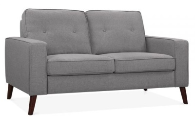 Pimlico Two Seater Sofa Angle View Smokey Grey