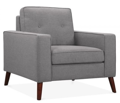 Pimlico Designer Armchair In Smokey Grey Angle View