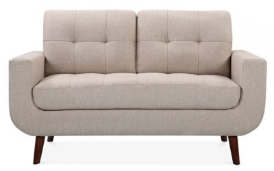 Maxim Two Seater Sofa Cream Upholstery Face Shot