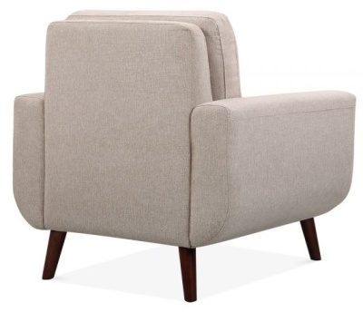 Maxim Single Armchair In Cream Upholstery Rear Angle
