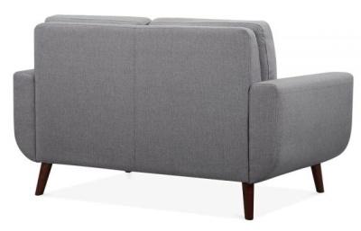 Maxim Two Seater Sofa In Smoke Grey Rear View