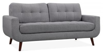 Maxim Three Seater Sofa In Smoke Grey Angle View