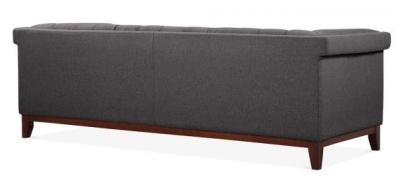 Decor Three Seater Sofa In Dark Grey Angle View