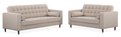 Gustauv Sofa Set Cream Fabric