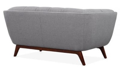 Oboe Two Seater Sofa In Smoke Grey Rear View