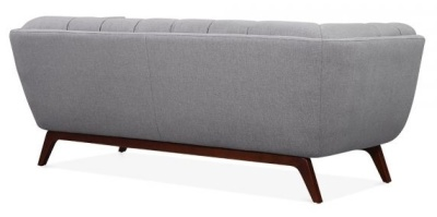Oboe Three Seater Sofa In Smoke Grey Rear View