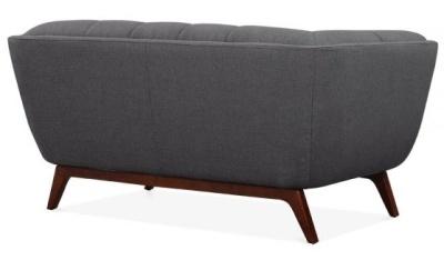 Oboe Two Seater Sofa Dark Grey Fabric Rear View