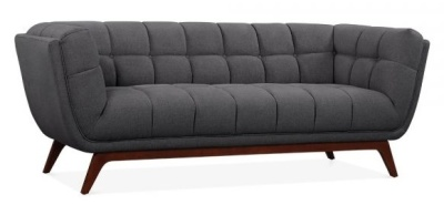 Oboe Three Seater Sofa In Dark Grey Angle View