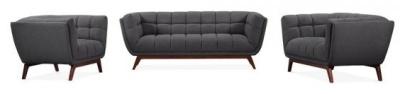 Oboe Designer Sofa Set In Dark Grey 2
