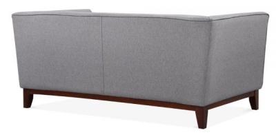 Eden Designer Sofa Rear Angle In Smoke Grey