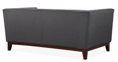 Eden Two Seater Sofa In Dark Grey Rear View