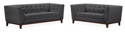 Eden Dark Grey Sofa Set